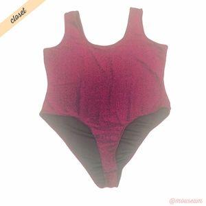 [Forever 21] Pink Sparkle Sleeveless Bodysuit